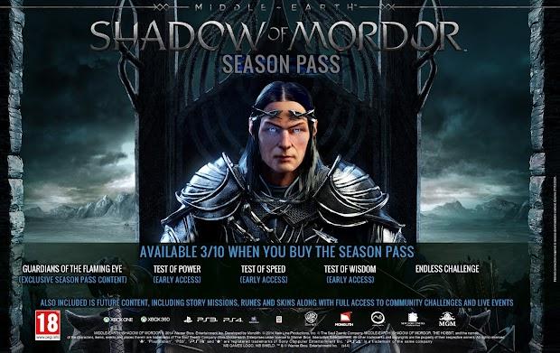 Shadow of Mordor Season Pass detailed