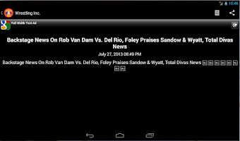 Screenshot of Wrestling News