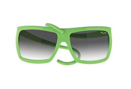 Rubber sunglasses. ALeRO GUM Square. Green