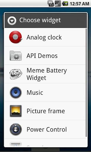 Meme Battery Indicator Widget