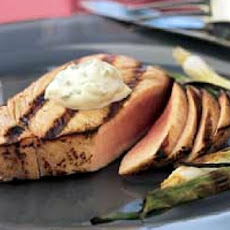 Seared Tuna Steaks with Wasabi-Green Onion Mayonnaise