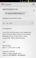 Screenshot of Neighborhood Crime Watch
