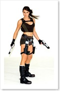 Alison Carroll The new face of Lara Croft from the game Tomb Raider