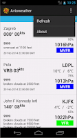 Screenshot of Avioweather