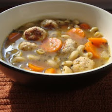 Italian Turkey Meatball Soup