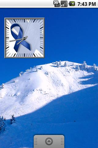 Blue Awareness Ribbon Clock