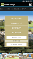 Screenshot of NE State Parks Guide