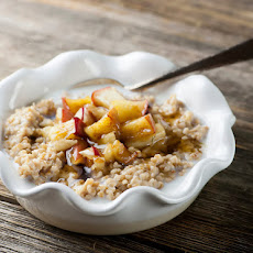 Toasted Brown Butter Oatmeal with Apples