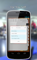 Screenshot of PRIOR:Task Planner, To do Note