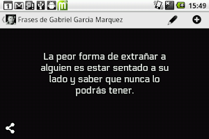 Screenshot of Frases Gabriel Garcia Marquez