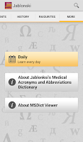 Screenshot of Medical Abbreviation Acronyms