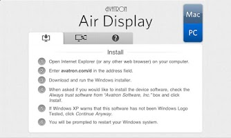 Screenshot of Air Display