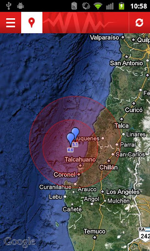 earthquake for android screenshot