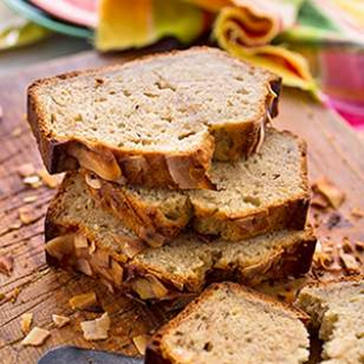 Coconut-Rum Banana Bread Recipe | Yummly