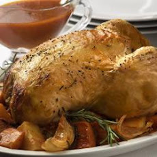 Roast Chicken with Tomato Gravy