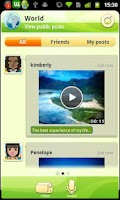 Screenshot of wiFest multimedia messaging