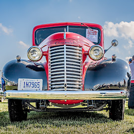 Mirror Finish by Jack Brittain - Transportation Automobiles ( car, paris, canada, pickup, chevrolet, truck, show, ontario, 1940 )