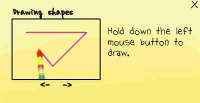 [小遊戲]魔法筆(MagicPen)裡用滑鼠左鍵畫出圖案