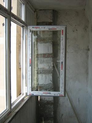 vedere partea dreapta a balcnului inchis cu termopan