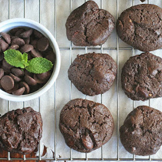 Gluten-Free Chocolate Mint Chocolate Chip Cookies