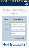 Screenshot of NetSupport Tutor Assistant