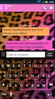 Screenshot of GO SMS Cheetah Pretty Theme