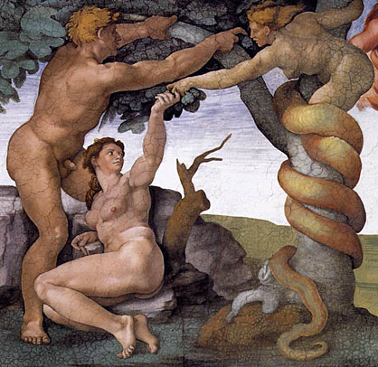 Michelangelo, Adam & Eva