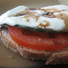 Open Face Mozzarella Sandwich