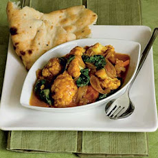 Tomato, Cauliflower & Spinach Curry