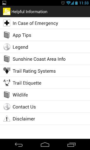 TrailMapps: Sunshine Coast - screenshot