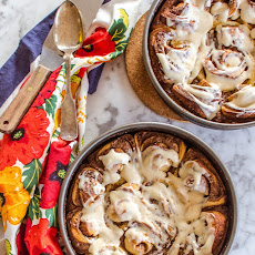 Spicy Sticky Cinnamon Rolls with Cream Cheese Icing