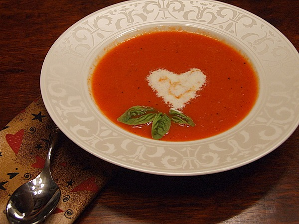 Roasted Red Pepper Soup with Orange Cream Recipe | Yummly