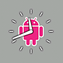 Pink Android Clock icon
