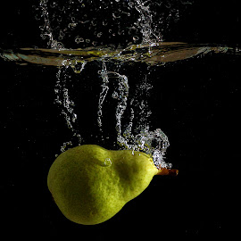 by Ivo Tunchel - Food & Drink Fruits & Vegetables ( water, splash, underwater, duck, trick, pear )