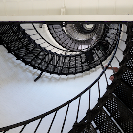Because It's There by Jamie Boyce - Buildings & Architecture Other Interior ( stairs, long climb, stairway, florida, metal stairs, lighthouse, st. augustine, spiral,  )