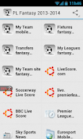 Screenshot of PL Football Fantasy