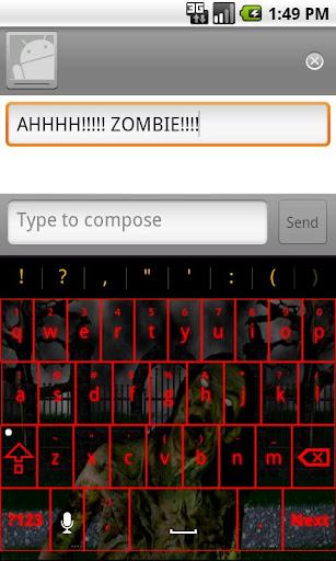 Zombie Keyboard Skin 2