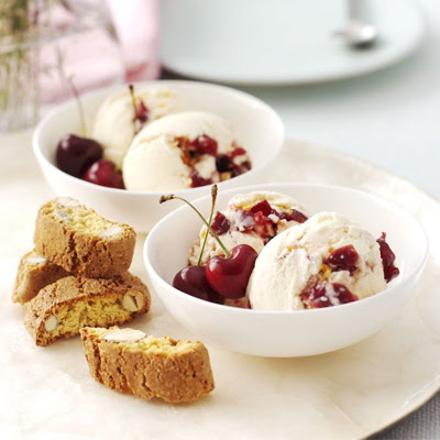 Cherry Ripple & Almond Crunch Ice Cream