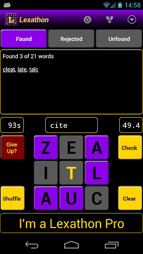 lexathon-word-jumble for android screenshot
