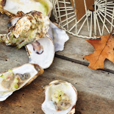Chilled Oysters with Apple-Ginger Mignonette