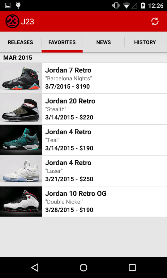 J23 - Jordan Release Dates Screenshot 2