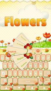 GO Keyboard Flowers - screenshot