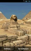 Screenshot of Pyramids 3D. Live wallpaper.