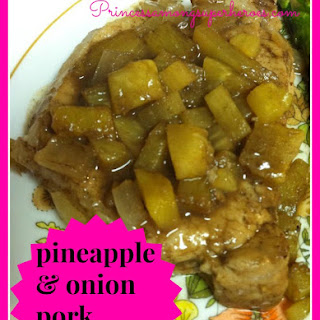 Pineapple And Onion Pork Chops