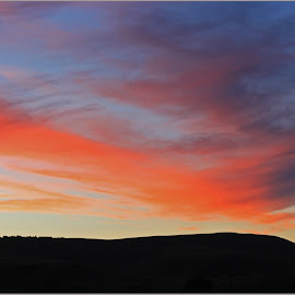 Sunset clouds by Dirk Luus - Landscapes Cloud Formations ( clouds, mountain, sunset, landscape, dusk )