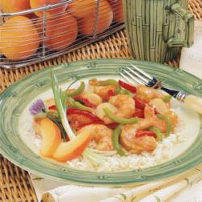 Apricot-Glazed Shrimp