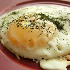 Fried Eggs With Dill