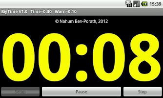 Screenshot of BigTime Big Time Timer