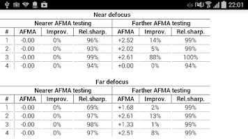 Screenshot of DSLR Controller AFMA