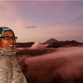 Morning at Bromo mountain.. by Dwi Ratna Miranti - People Portraits of Women